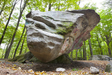 Balance Rock in the Berkshire Mountains of Western Massachusetts.