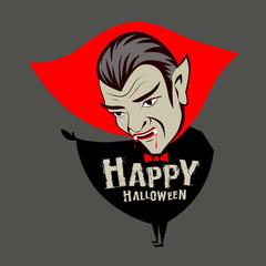 Vector Count Dracula halloween vampire character design