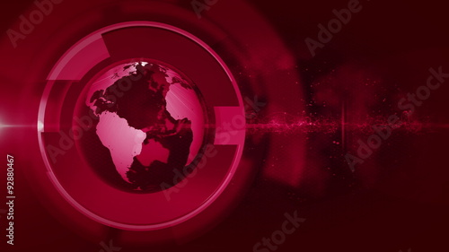 abstract globe news background LOOP
