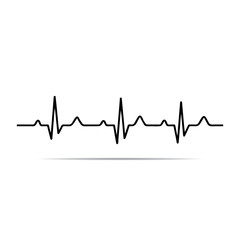 Vector Illustration heart rhythm ekg .