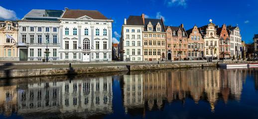Ghent canal. Ghent, Belgium