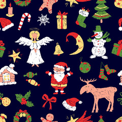 pattern of the christmas symbos
