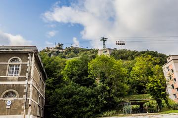 Grenoble et le téléphérique du Fort de La Bastille