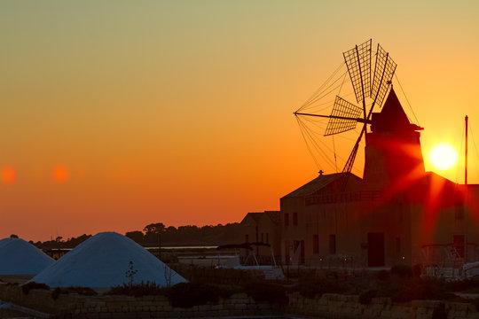Sunset Over the Wind Mill - Mozia - Marsala