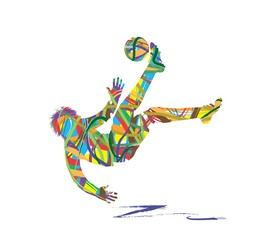abstract football player silhouette