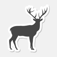 Deer sticker with long shadow