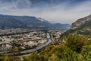 Vue générale de Grenoble du Fort de La Bastille