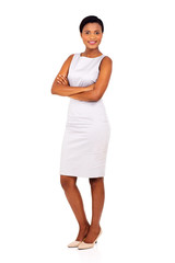 young black business woman posing