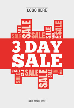 3 Day sale , discount banner