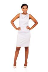 pretty african american woman posing