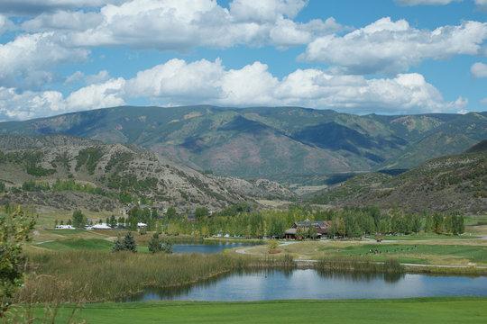 lake near golf course snowmass colorado