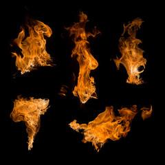 Foto op Canvas Vuur fire set