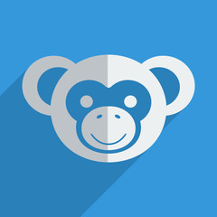 Flat icons modern design with shadow of monkey