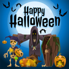 Participants of a holiday Halloween