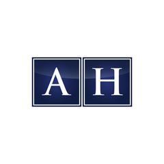 Letter Initial Logo AH