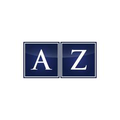 Letter Initial Logo AZ