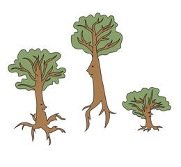 Cartoon talking trees