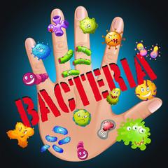 Bacteria in human hand