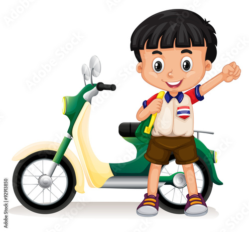 little boy on motorcycle-#23