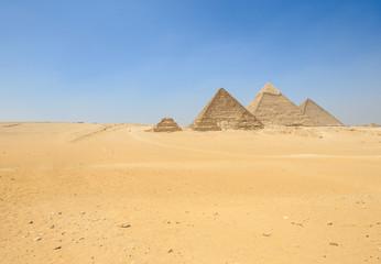 pyramids of Giza in Cairo
