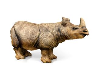 3D model rhinoceros isolated on white background