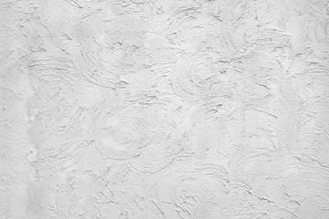 White Plastered Wall  Fragment With Brushstroks Handmade Abstrac