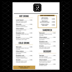 Restaurant Menu Design Template layout with logo