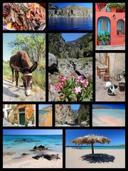 Greece - Crete. Travel collage