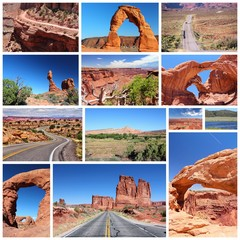 Utah travel collage
