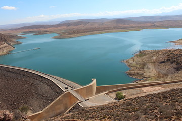 The famous Moroccan storage pond, near the Agadir.