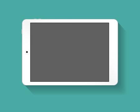 White tablet pc horizont