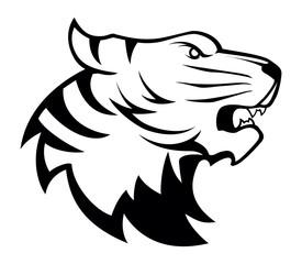 Tiger head illustration symbol