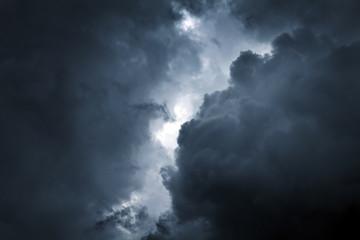 Aluminium Prints Heaven Storm Cloud Background