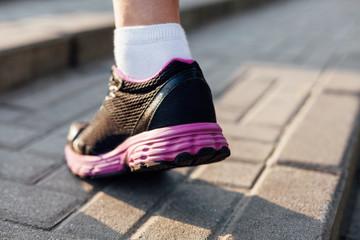 Closeup of runners sneaker