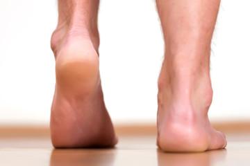 Male feet heels