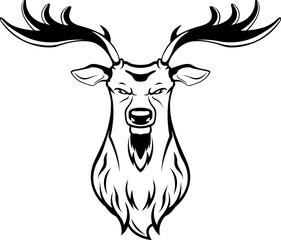 Deer hunt symbol illustration