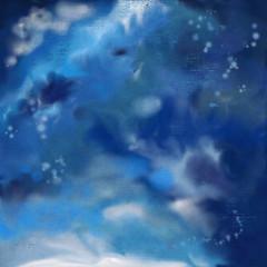Dramatic Night Sky Painting Background
