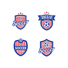 Soccer and Football Vector Logo Template