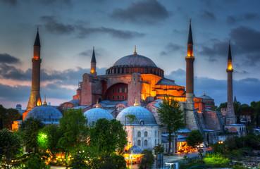 Hagia Sophia on a sunset, Istanbul