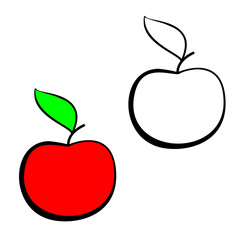 Red vector apple.