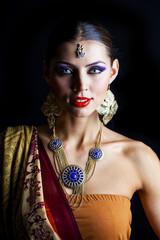 Young traditional Asian Indian woman