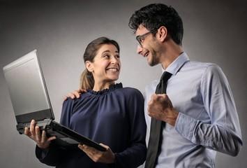 Successful colleagues