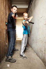 Armed young boys