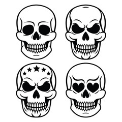 Halloween human skull design - death, Day of the Dead