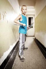 Teenage knife fighter