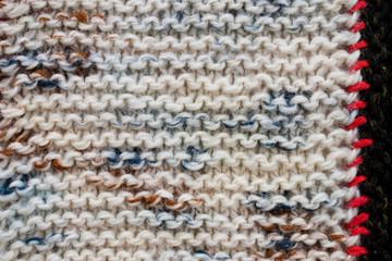 close up of woolen texture - textile patchwork background