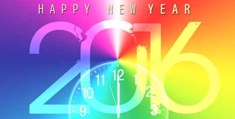 New year, banner, 2016