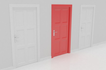 3d door render vote concept