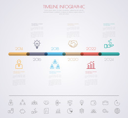 Color Step Design with colour icon timeline template/graphic or