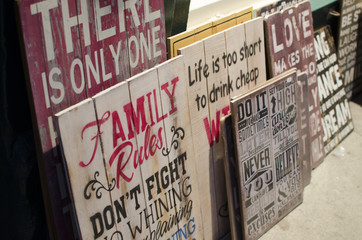 Personalized wooden boards rustic type messages quotes